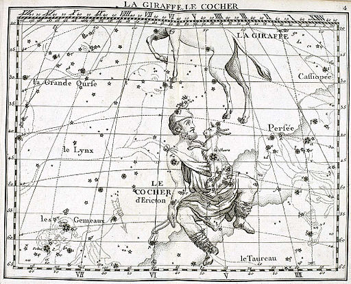 Auriga mythology -  Atlas Coelestis by John Flamsteed