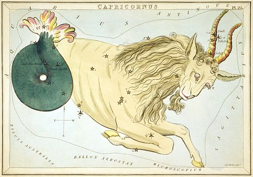 Capricornus by Sidney Hall from Urania's Mirror