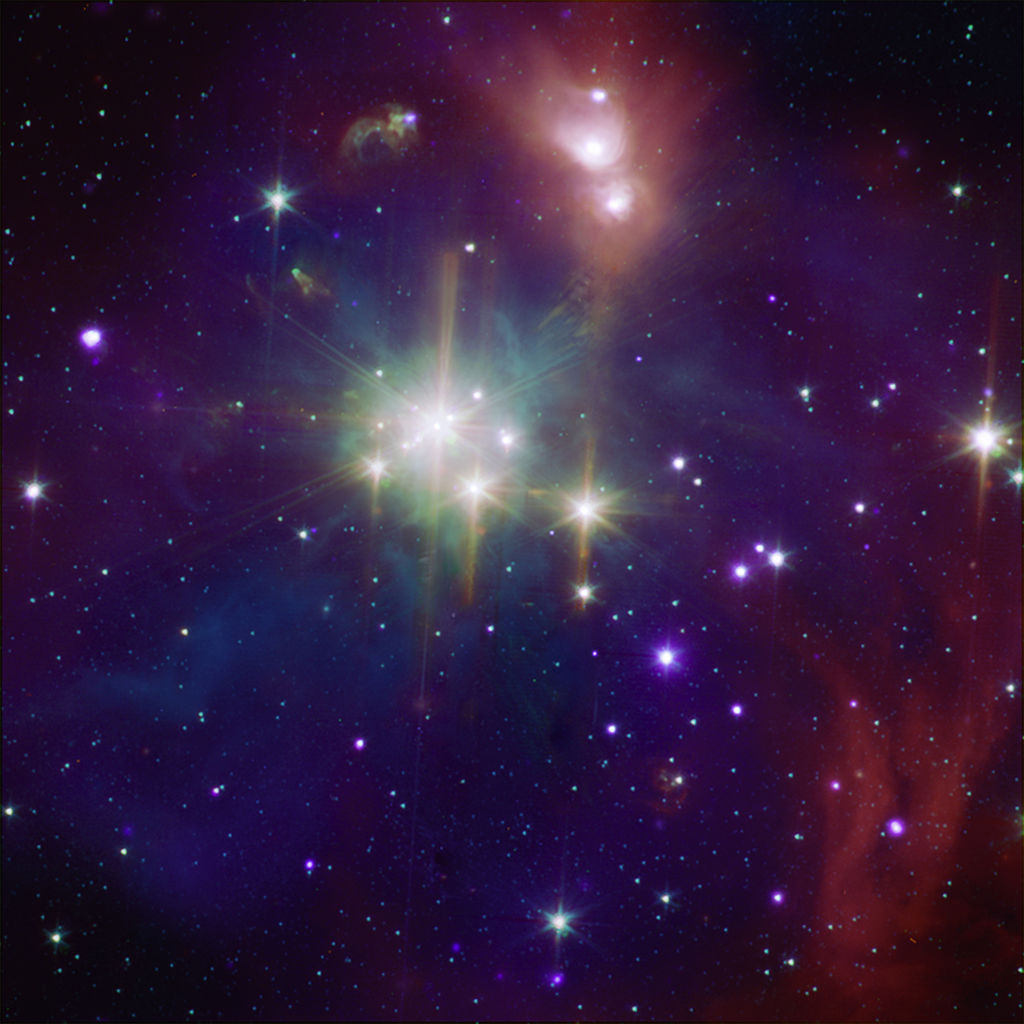 Coronet Cluster in X-Ray and Infrared